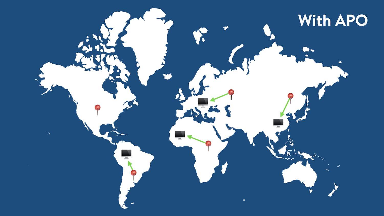 Acheminement du trafic mondial avec l'APO Cloudflare.