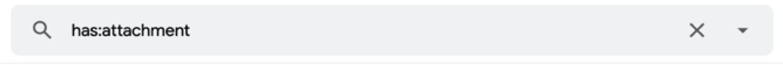 Cómo ver una lista de todos los correos electrónicos que contenían un archivo adjunto
