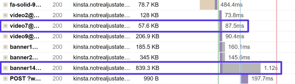 http requests in gtmetrix