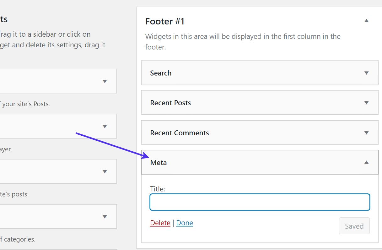 Editando o meta widget