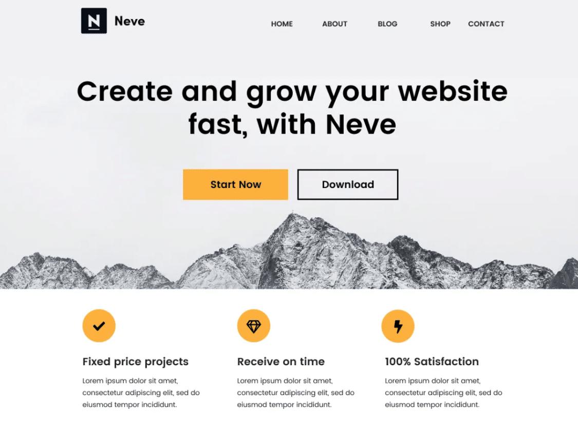 Neve - fastest WooCommerce theme