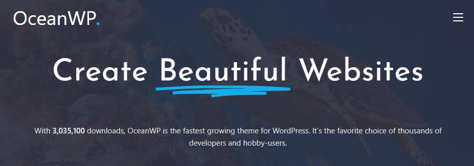 OceanWP - fastest WooCommerce theme