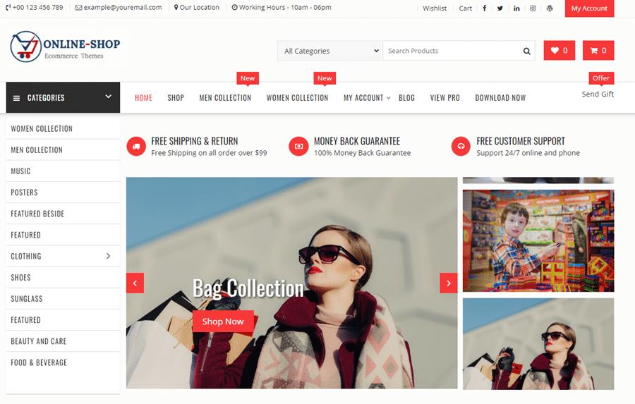 Online-shop theme