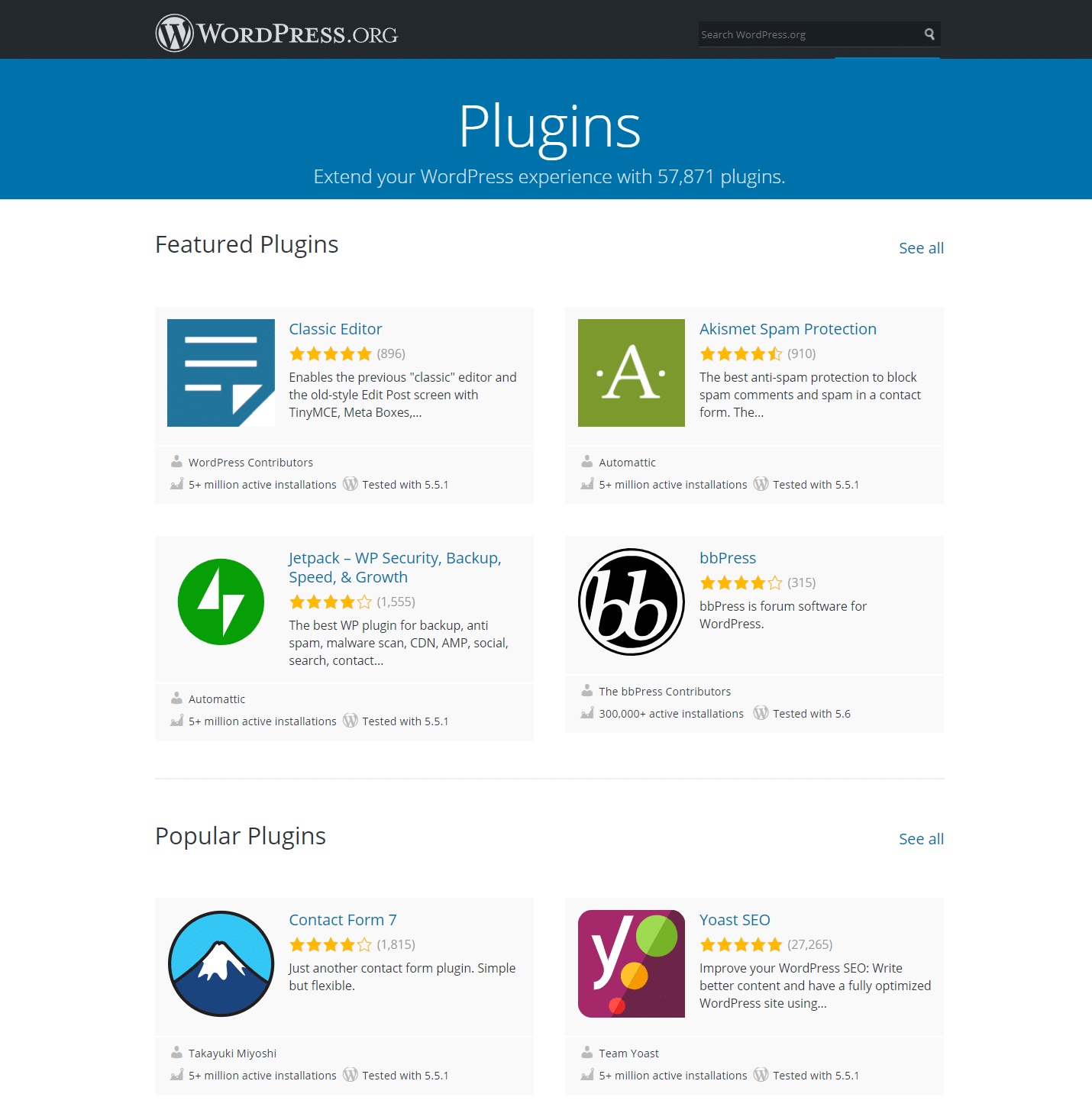 De WordPress plugin repository.