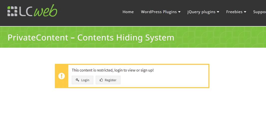 Plugin premium per rendere private le pagine di WordPress