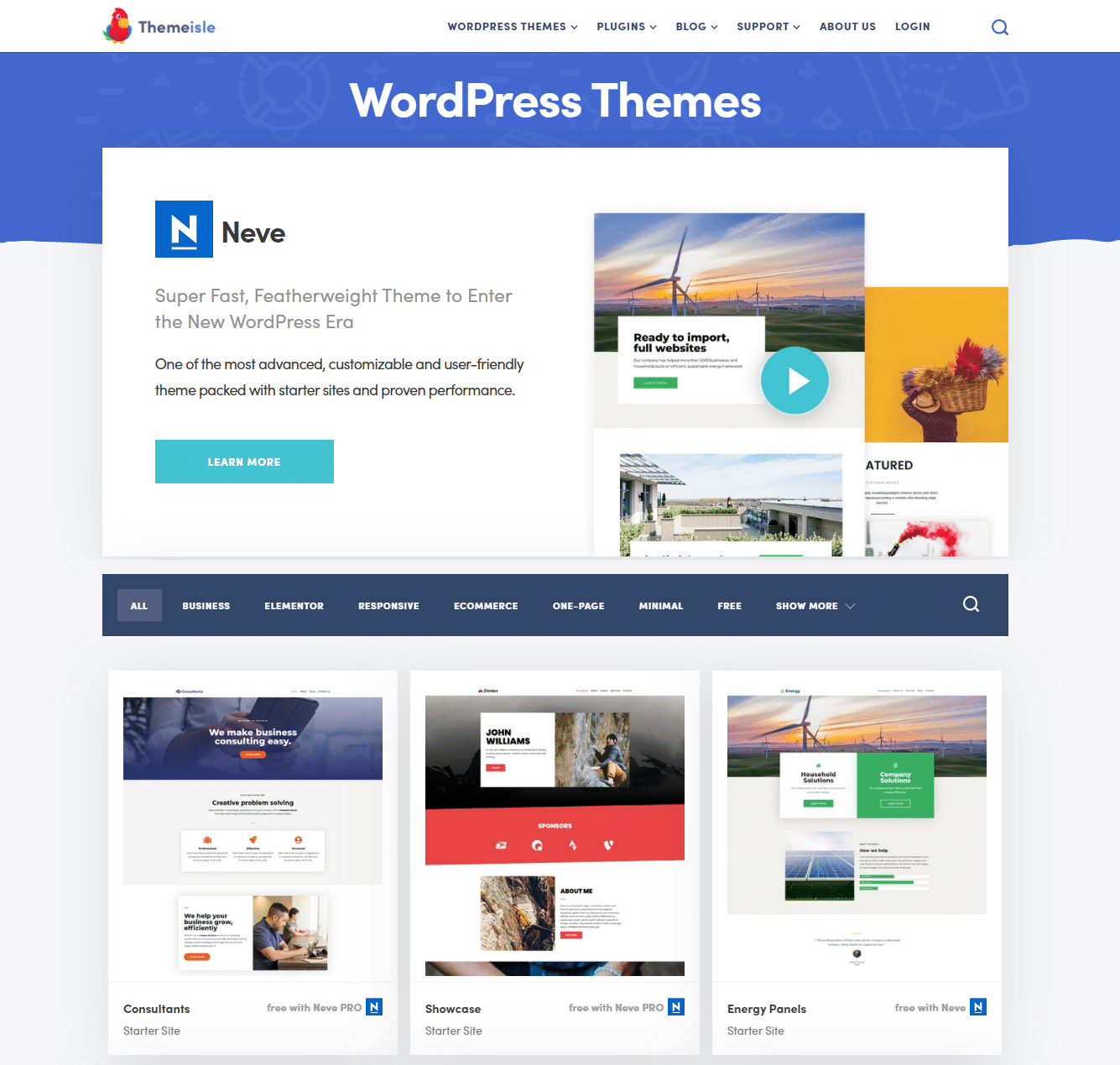 Eine Sammlung von Premium-Themes von ThemeIsle.
