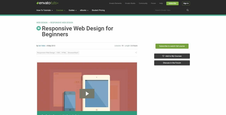 Tuts+ - Cours de conception de sites web responsives