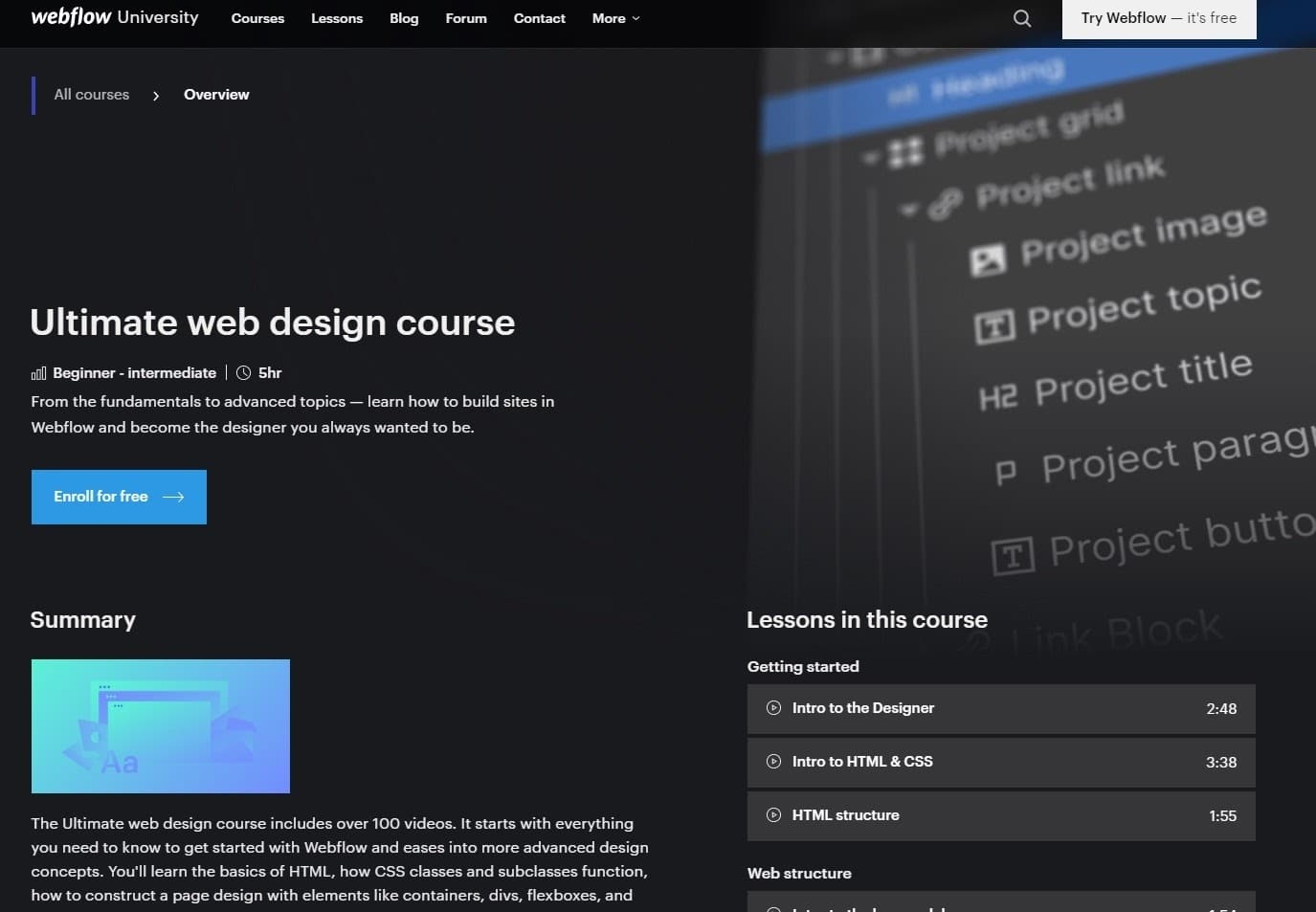 ultimate web design course