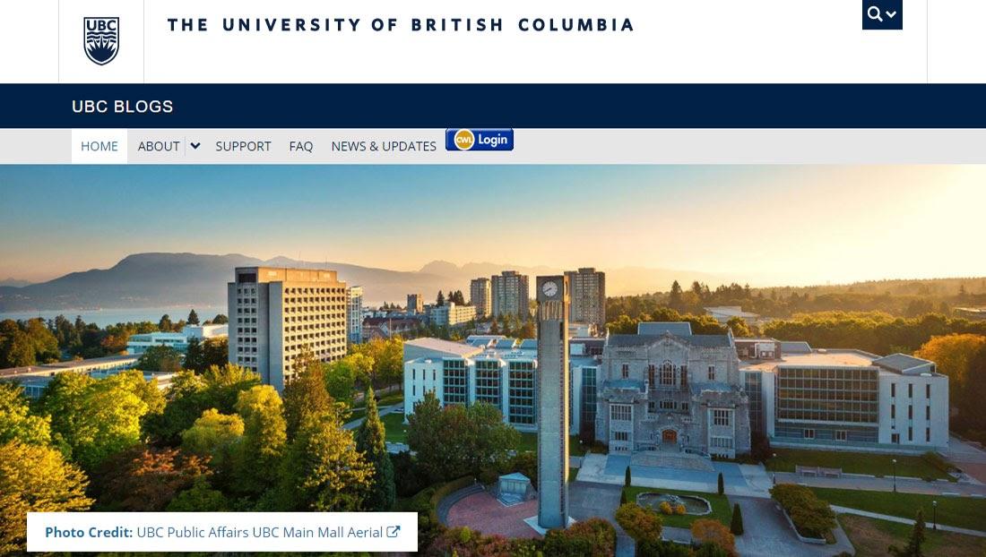 UBC Blogs WordPress Multisite Network