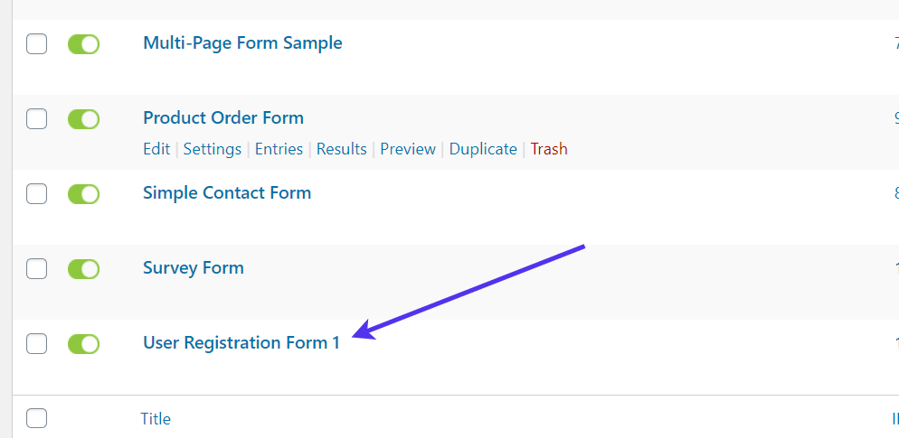 user reg form - WordPress Registration Form