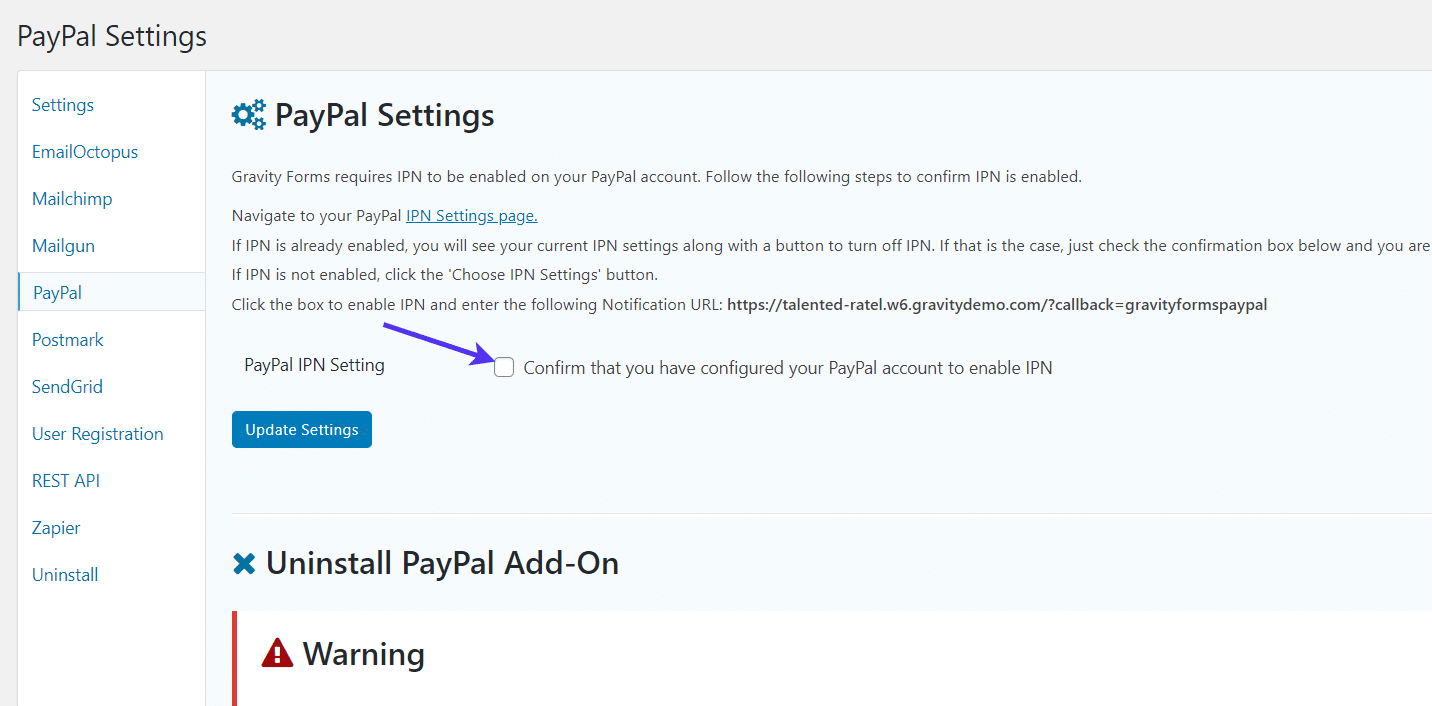 PayPal IPN for WordPress Registration Form