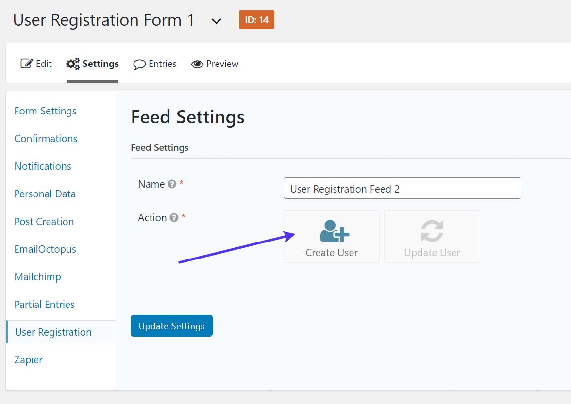 Criando o usuário