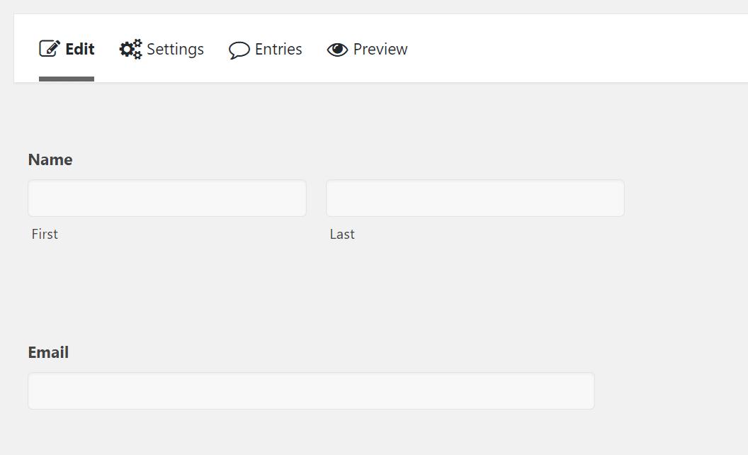 Acréscimo de nome e e-mail