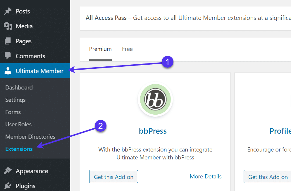 extensions for WordPress Registration Form