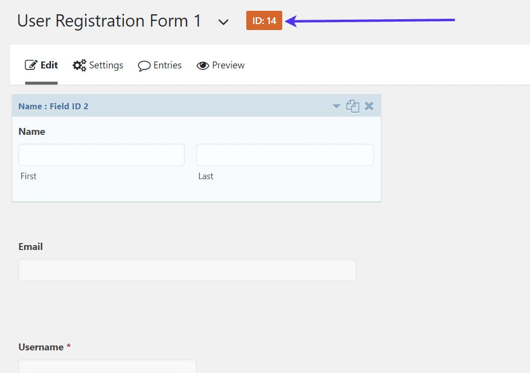 Número de identificação do seu formulário