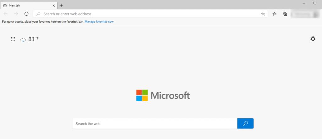 The Microsoft Edge browser.