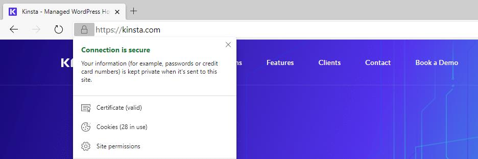 Microsoft Edge sem avisos de conteúdo misto