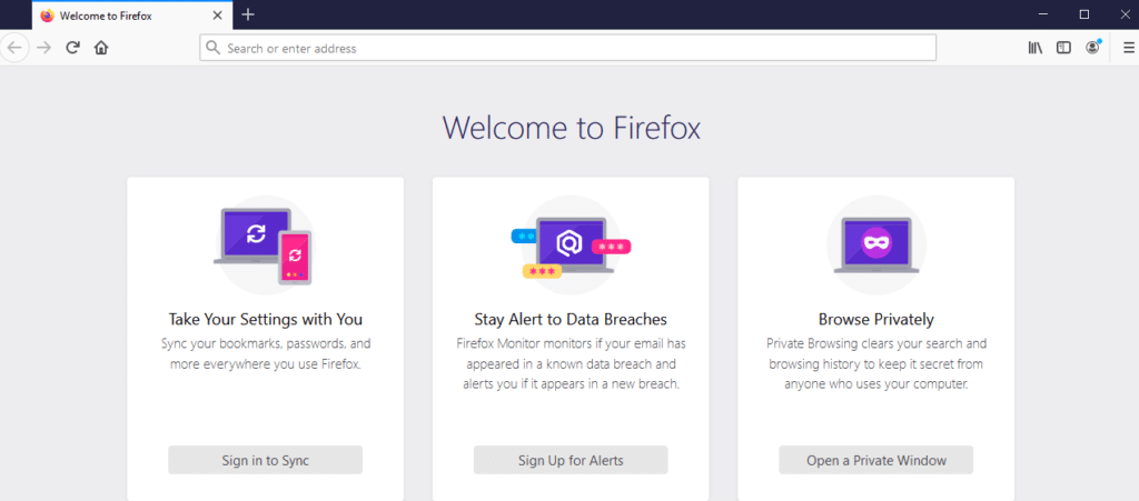 The Mozilla Firefox web browser.