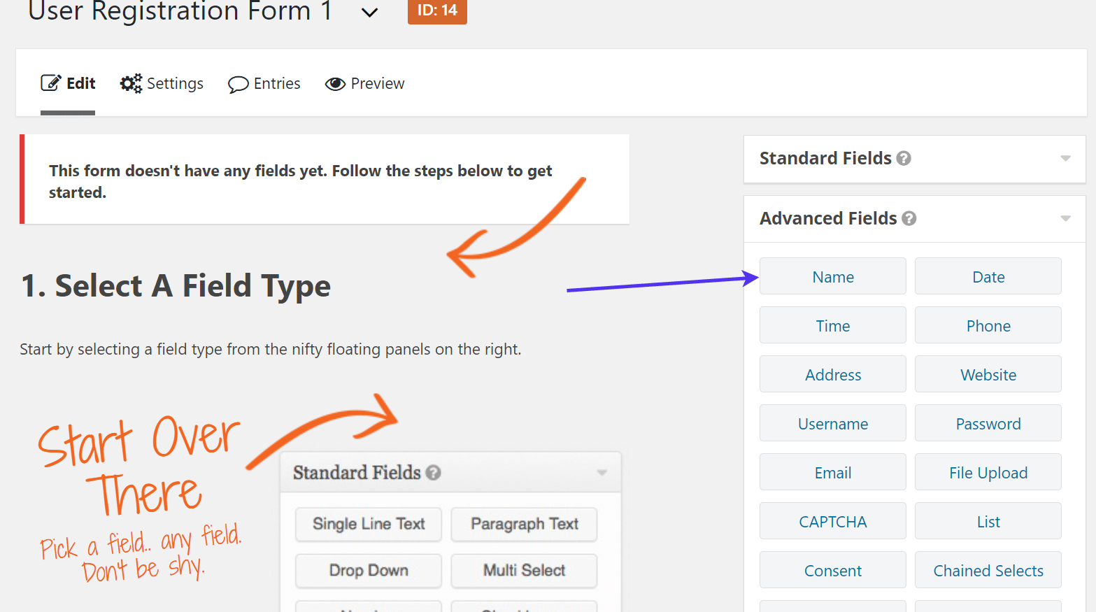 WordPress Registration Form builder
