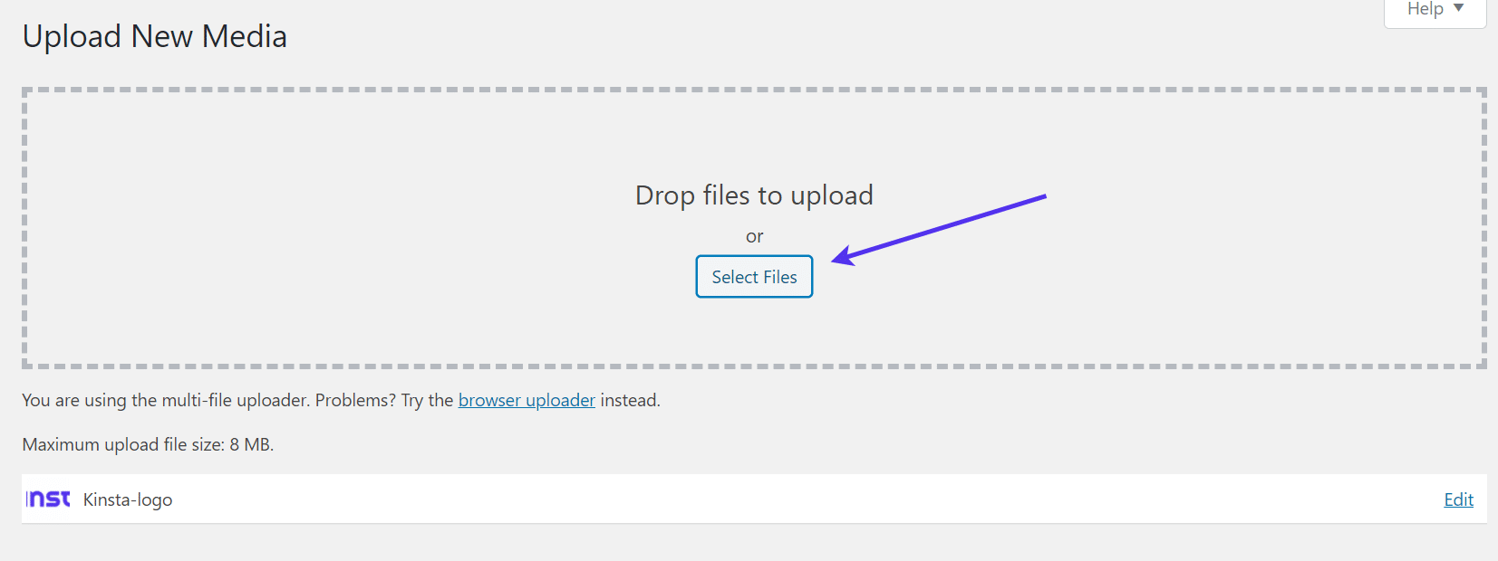 Carregando um novo logotipo para seu formulário de registro WordPress personalizado