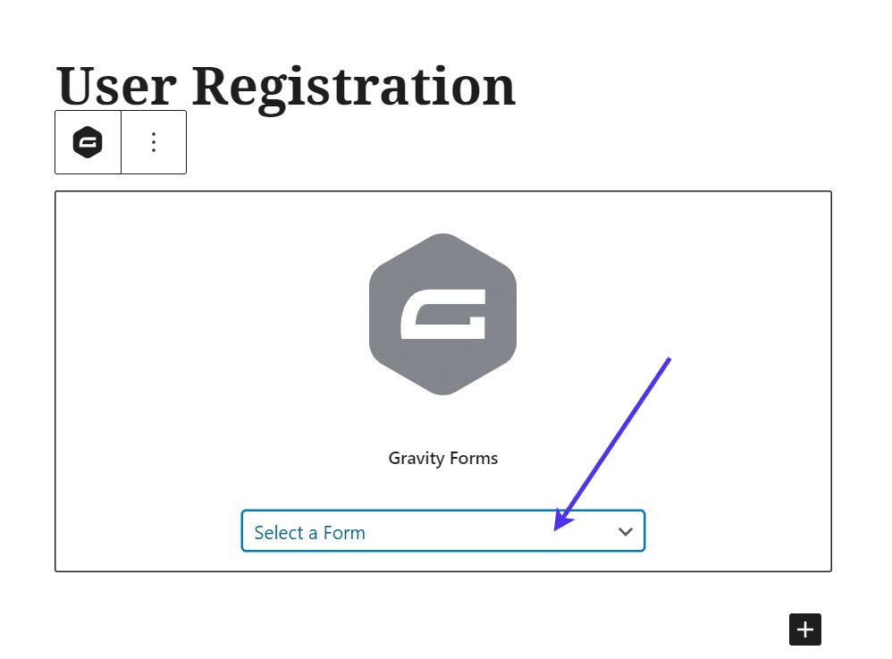 select a form