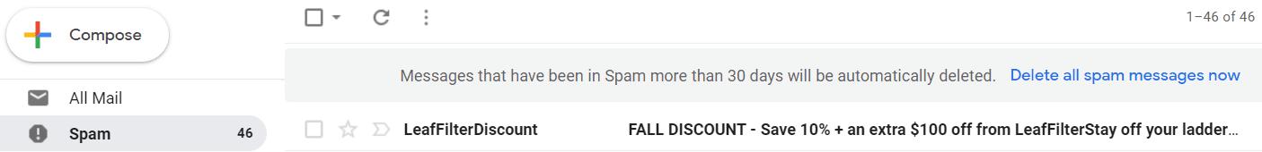 spam headline keywords