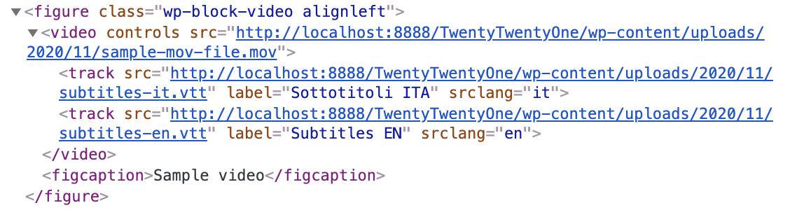 track要素で複数言語の字幕にリンクする