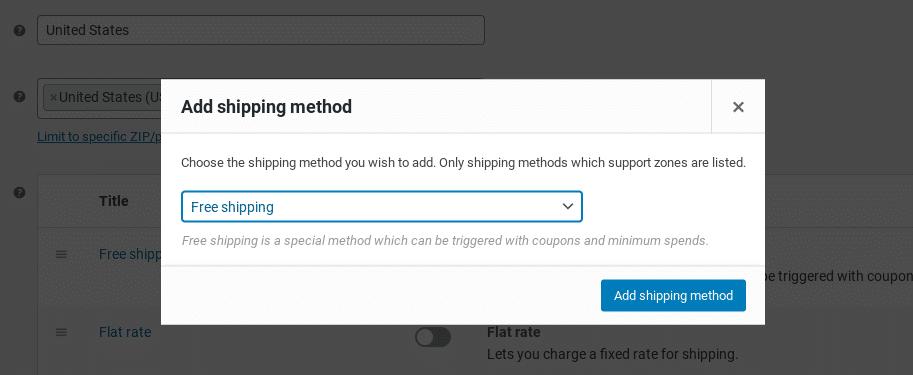 Añadir un método de envío gratuito en WooCommerce