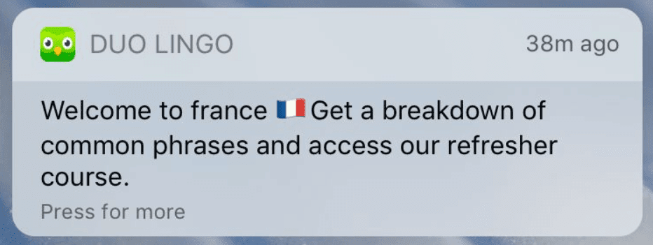 duolingo notification