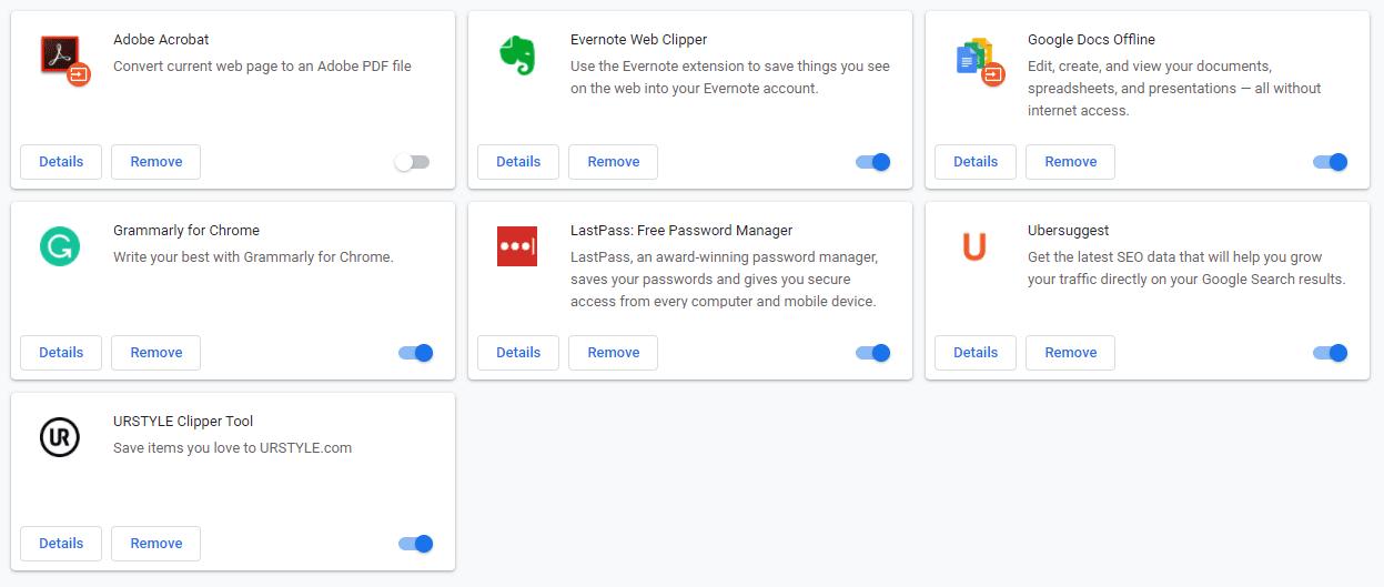 Estensioni del browser in Google Chrome