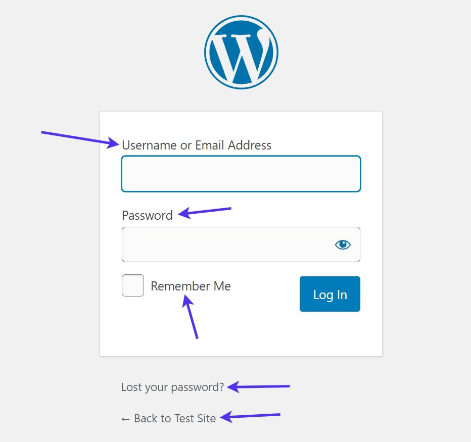 WordPress translation strings.