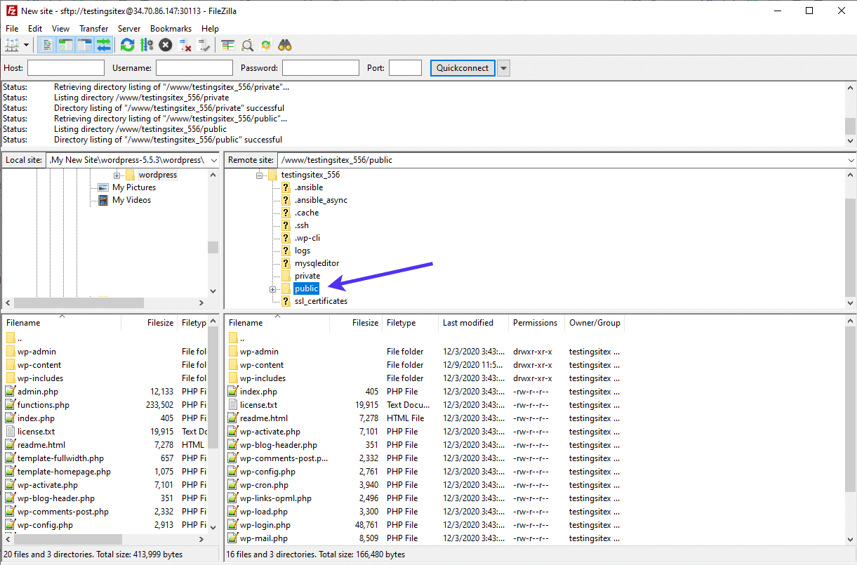 Replace WordPress Core files via FTP.