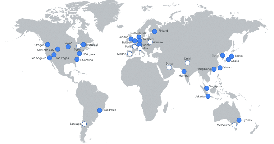 Google Cloud Regional Network