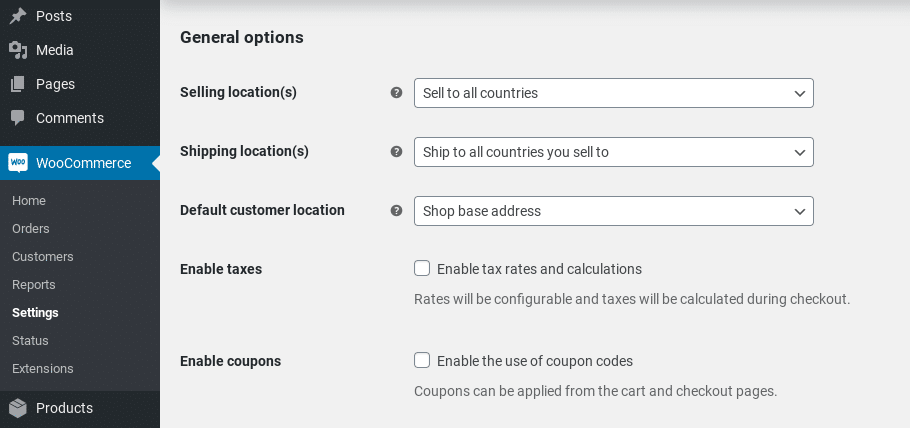 woocommerce coupons taxes