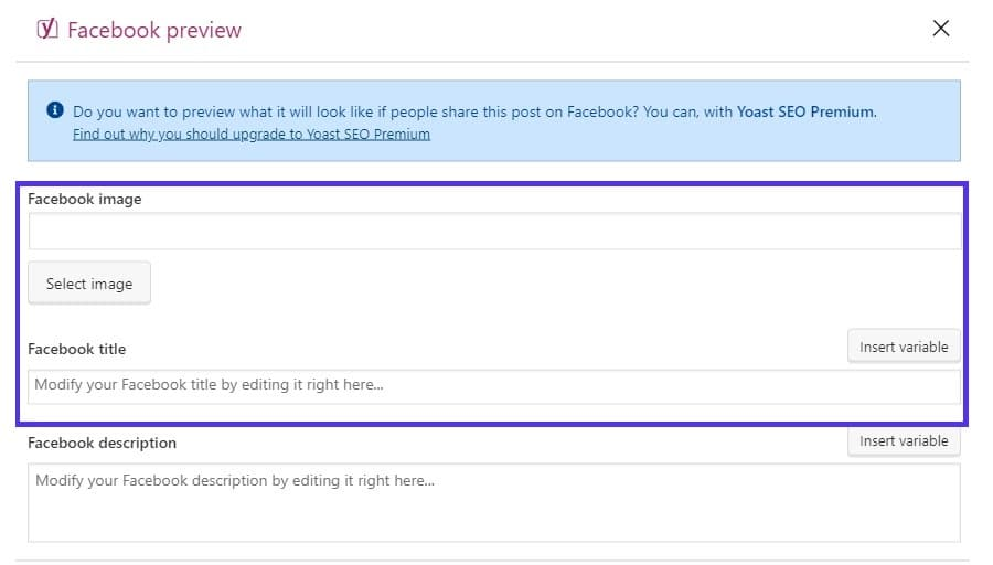 yoast facebook og tag settings