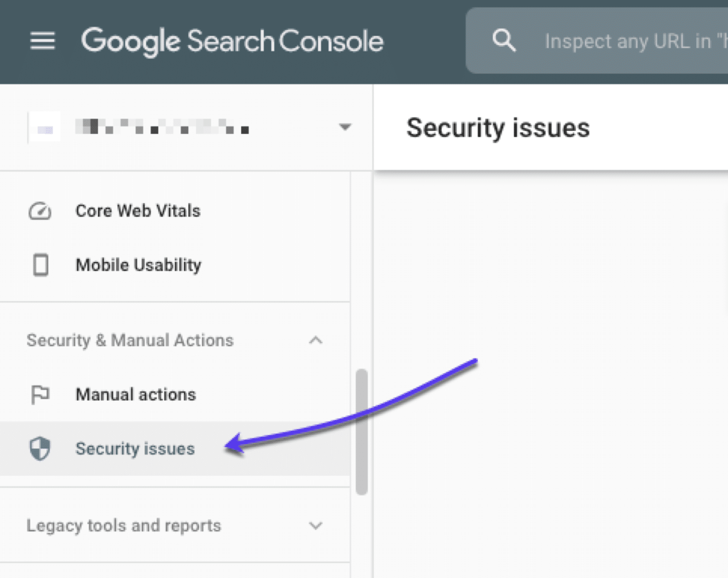 How to view any security issues in Google Search Console