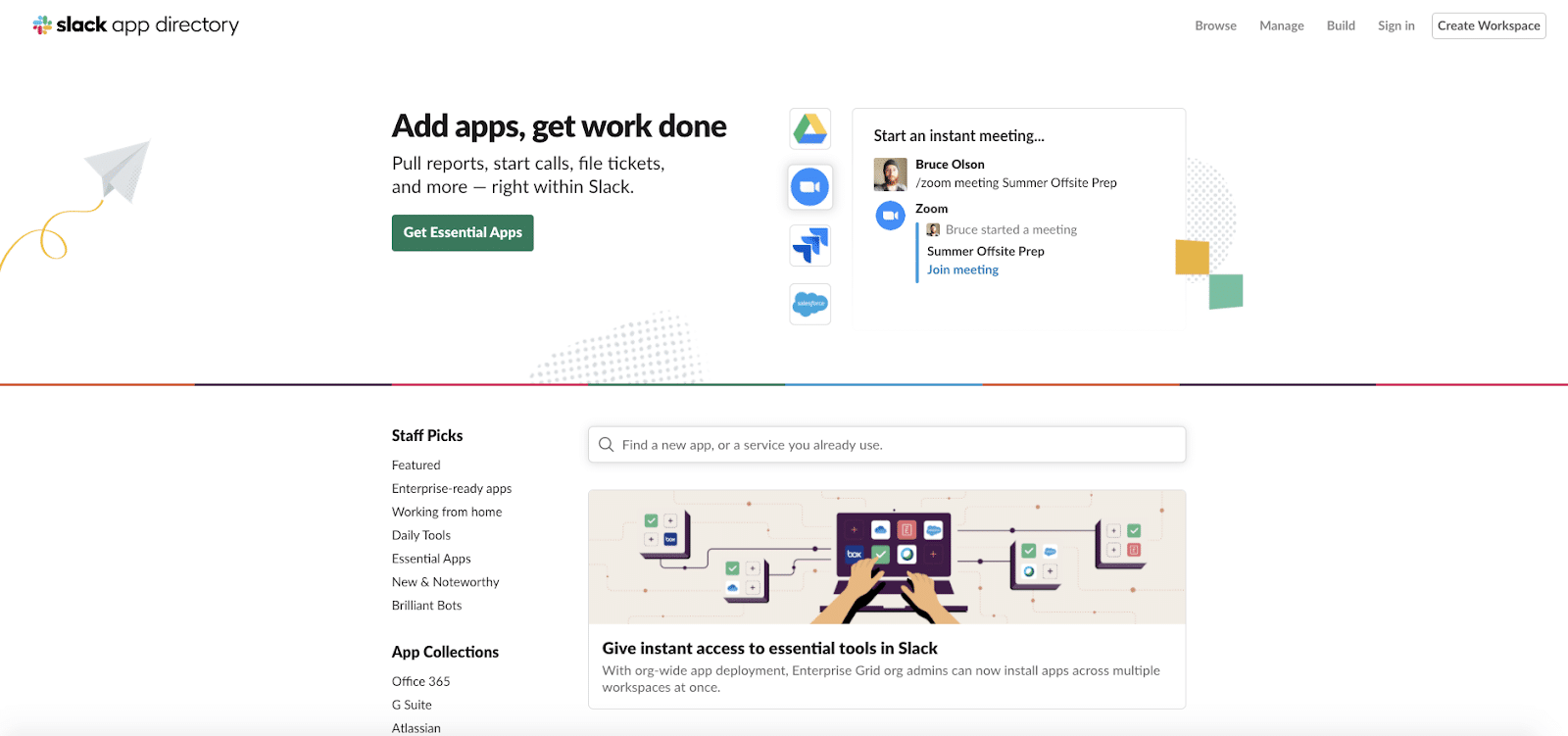 Slack's app directory