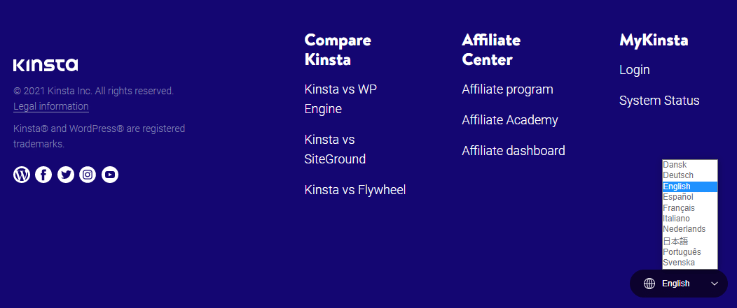Kinsta multilingual site support