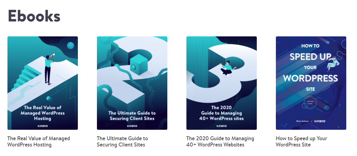 Kinsta's Ebooks are repurposed articles and one of the best affiliate sales tips