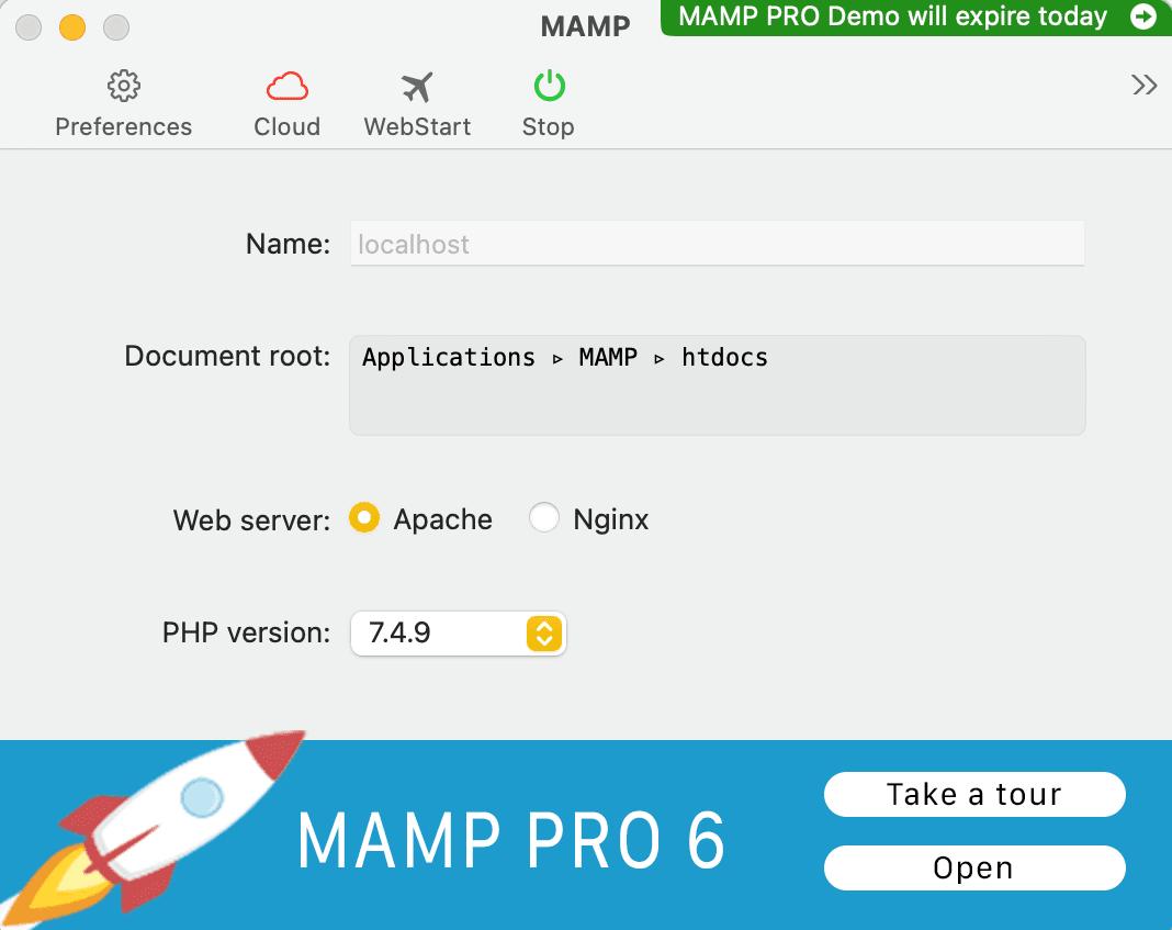 L'application MAMP