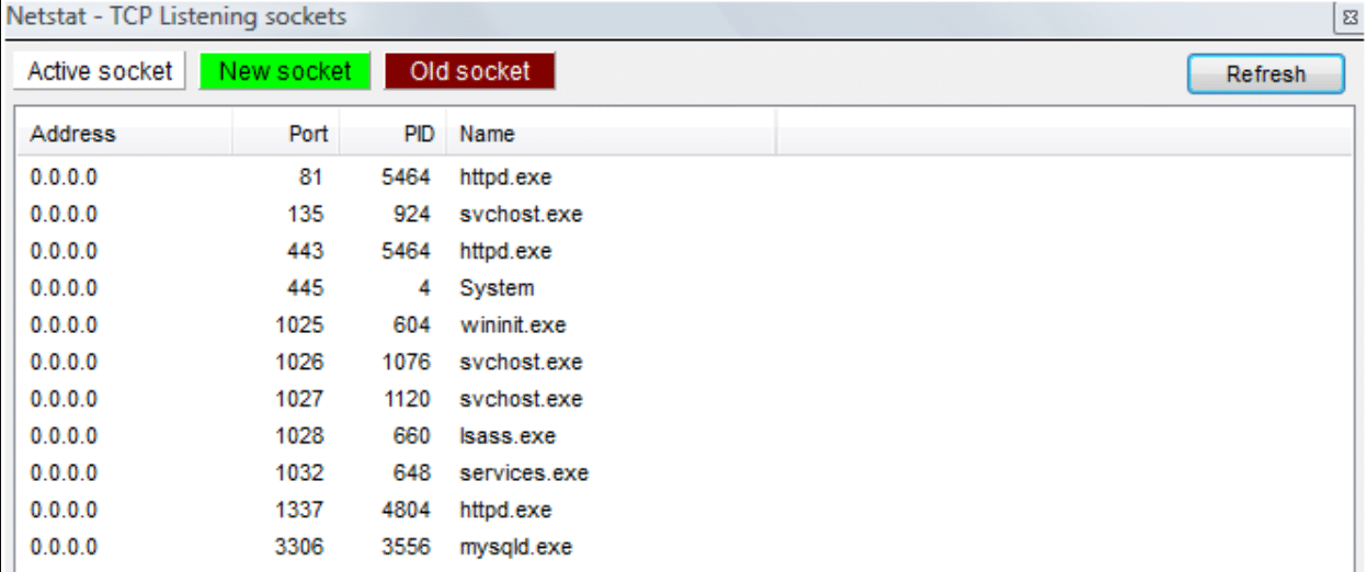 Checking active connections using Netstat.