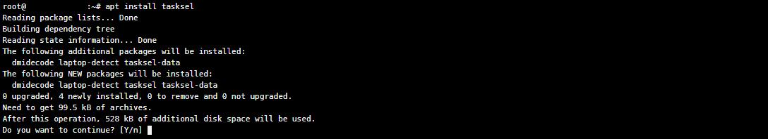 Installing LAMP stack with Taskel via terminal