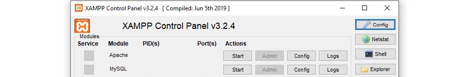 Using XAMPP's Netstat tool.