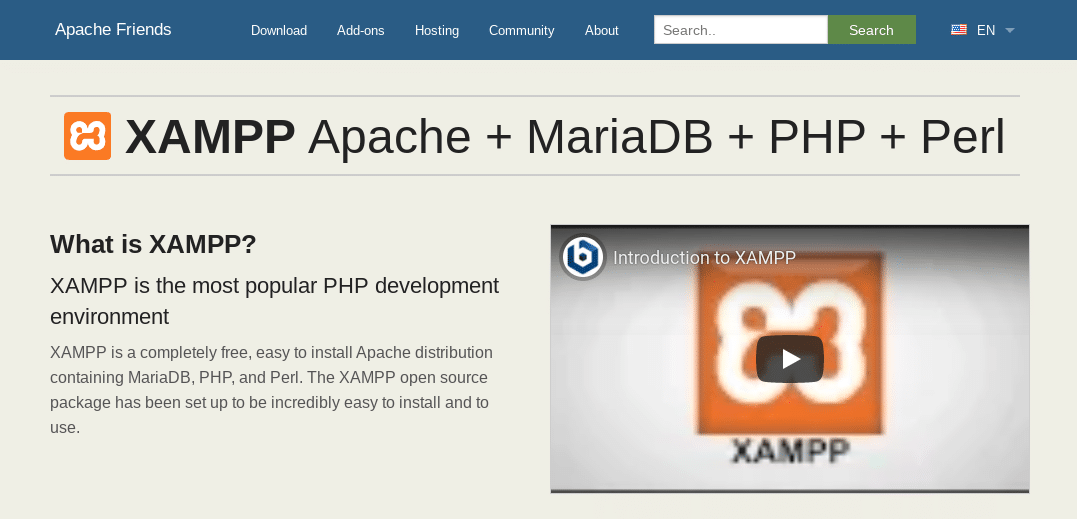 De XAMPP website.