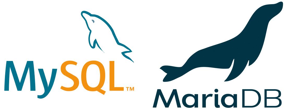 MySQL and MariaDB logos