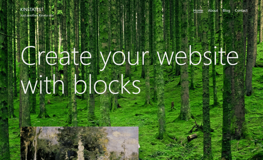A WordPress background image example
