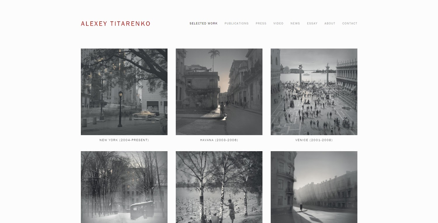 Alexey Titarenko photography website
