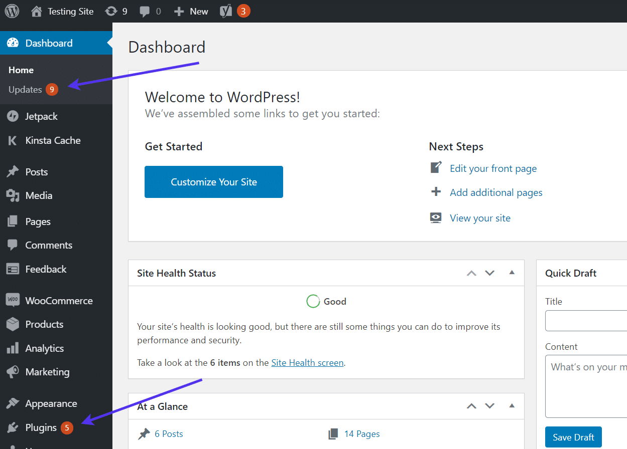 """Go to your """"Plugins"""" panel in WP dashboard."""