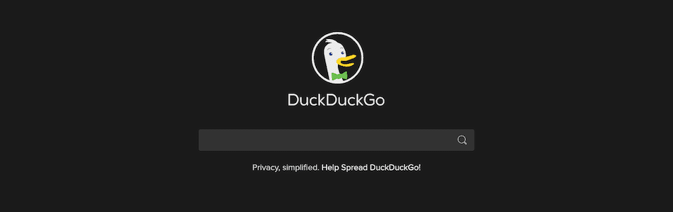 Le moteur de recherche DuckDuckGo.