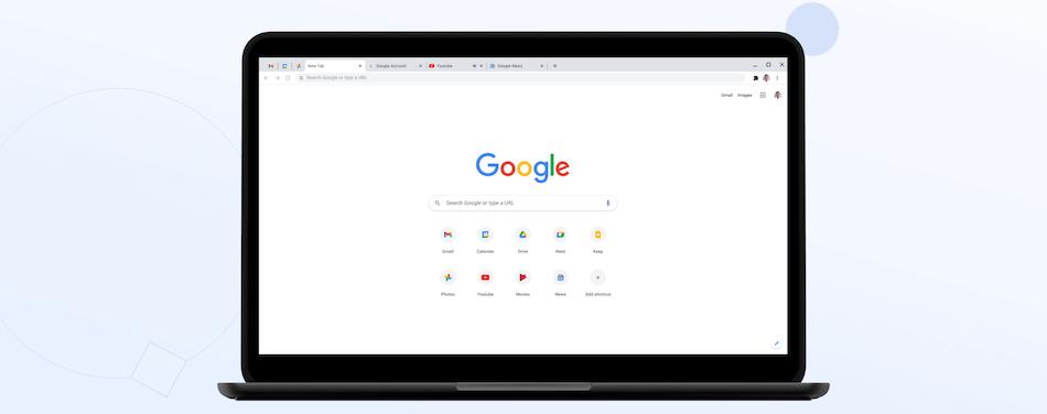 Le site web de Google Chrome.